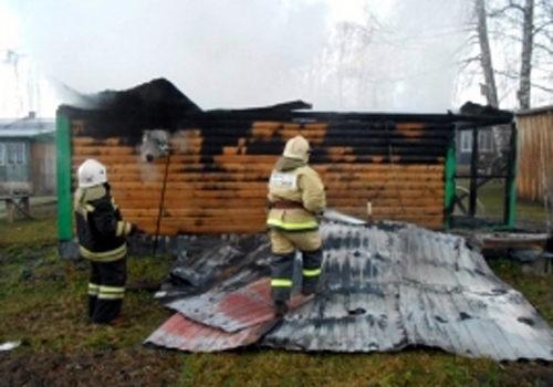 В Степурине горела баня