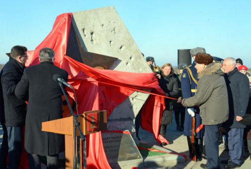 В Тверской области открыт закладной камень на месте, где будет установлен Ржевский мемориал советскому солдату