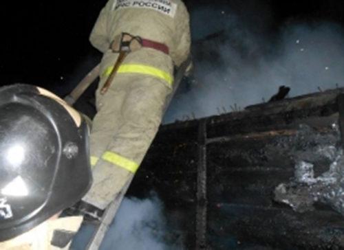 В деревне Коньково горела баня