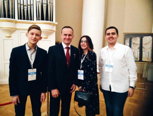 Ученик Ново-Ямской школы Андрей Карасёв принял участие в IV съезде РДШ