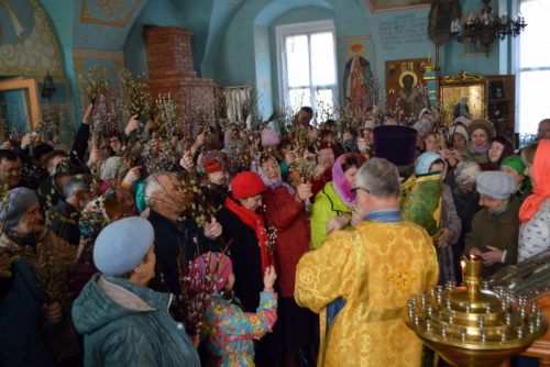 Старичане отмечают Вербное воскресенье