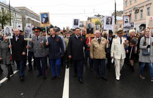 Более 35 тысяч человек приняли участие в шествии «Бессмертного полка» в Твери
