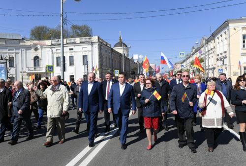 Около 15 тысяч человек приняли участие в первомайской демонстрации в Твери