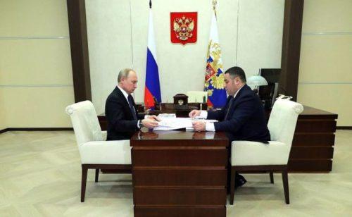 Президент Владимир Путин сегодня встретится с губернатором Игорем Руденей