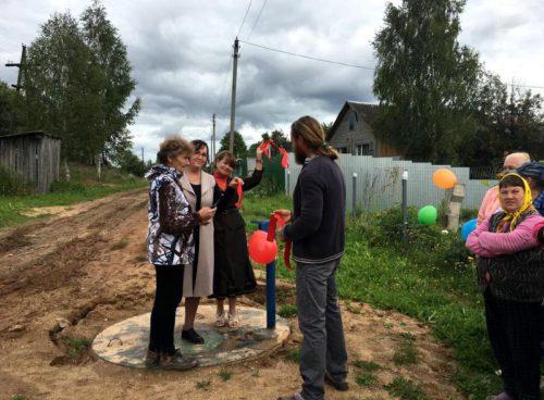 В Мартьянове открыт отремонтированный участок водопроводных сетей