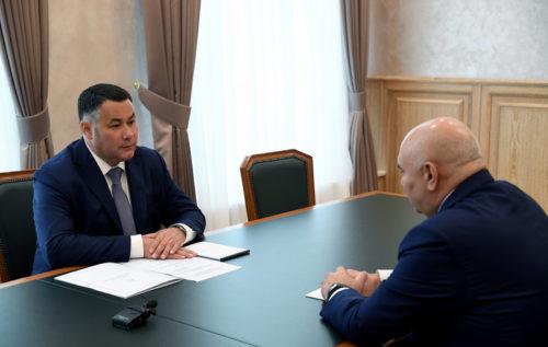 Губернатор Игорь Руденя обсудил с исполняющим обязанности Министра сельского хозяйства РФ Джамбулатом Хатуовым развитие отрасли в регионе
