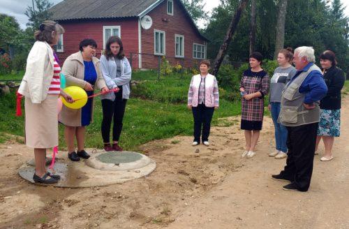 В деревне Паньково обновили водопроводные сети