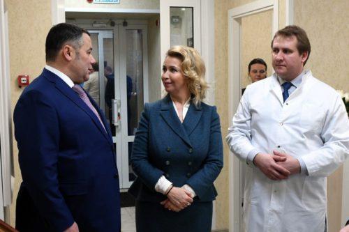 Игорь Руденя отмечен в рейтинге «Губернаторская повестка» после открытия в Твери диагностического центра «Белая Роза»