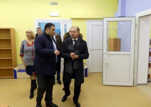 Губернатор проверил готовность детского сада к открытию