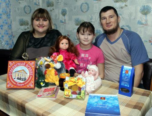 В Новый год исполнилось желание 8-летней Марии Кочур со станции Старица