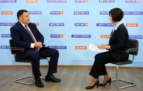 Игорь Руденя в прямом эфире