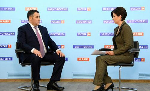 Губернатор Игорь Руденя в прямом эфире расскажет, как Тверская область отметит День Победы и когда в регионе закончится учебный год