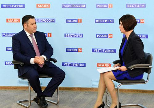 Игорь Руденя в прямом эфире «России 24» ответит на вопросы о ситуации с коронавирусом в Тверской области