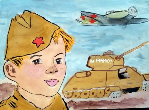 В «Библиотеке Ново-Ямской школы» продолжают звучать стихи о войне, пополняется «Азбука Победы»