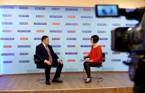 Игорь Руденя в прямом эфире ответил на вопросы по актуальным темам