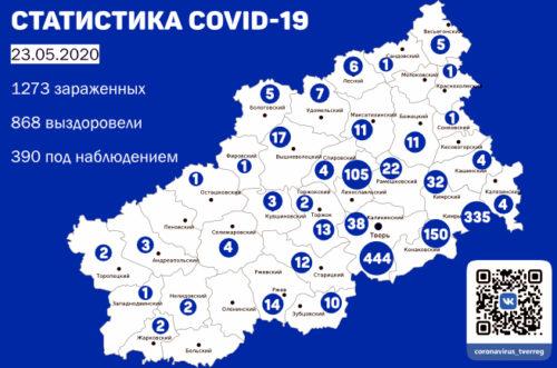В Тверской области после коронавируса выздоровели 868 человек