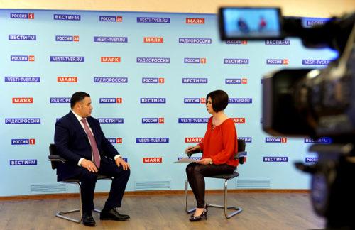 4 июня Губернатор Игорь Руденя ответит на актуальные вопросы в прямом эфире телеканала «Россия 24» Тверь