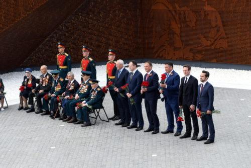 Президент России Владимир Путин открыл в Тверской области Ржевский мемориал Советскому солдату