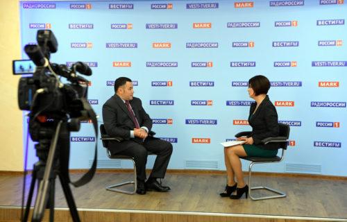 Игорь Руденя в прямом эфире «России 24» ответил на актуальные для жителей Верхневолжья вопросы