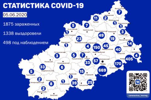 В Тверской области после коронавируса выздоровели 1338 человек
