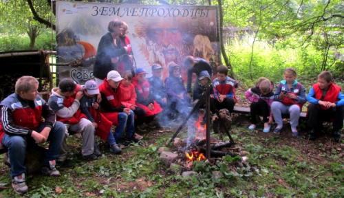Ребята из Васильевской школы побывали в гостях у «Землепроходцев»