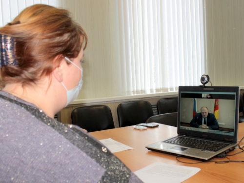 Сергей Голубев провёл онлайн-приём граждан