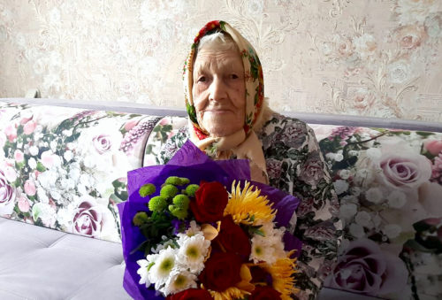 Игорь Руденя поздравил со столетним юбилеем ветерана Великой Отечественной войны Екатерину Степановну Белько