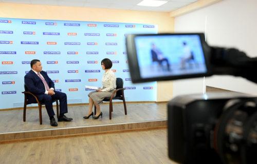 Прямой эфир с участием Губернатора Игоря Рудени на телеканале «Россия 24» Тверь можно посмотреть в сети Интернет