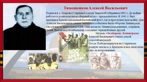 В Браткове вспоминали о земляках, которые жили и воевали в блокадные дни