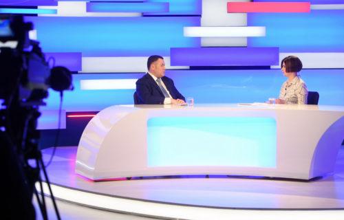 Игорь Руденя в прямом эфире «России 24» Тверь ответил на актуальные вопросы