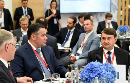 Игорь Руденя представил проект развития транспортной инфраструктуры Тверской области на Петербургском международном экономическом форуме
