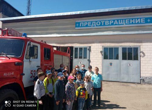 Паньковские ребята познакомились с работой пожарных