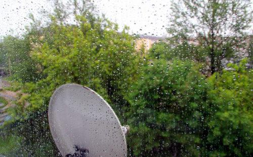 Гроза, град и ливневый дождь
