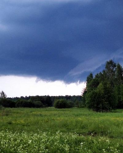 14 июля возможны гроза, ливневой дождь и град