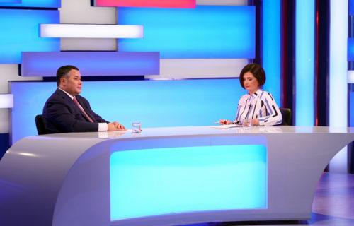 Губернатор Игорь Руденя в прямом эфире ответит на вопросы жителей Тверской области
