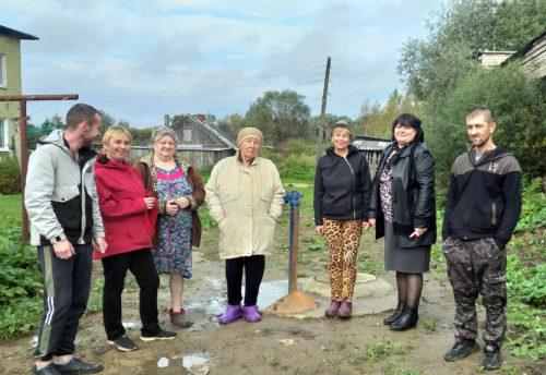 В деревне Бороздино капитально отремонтирован участок водопроводной сети