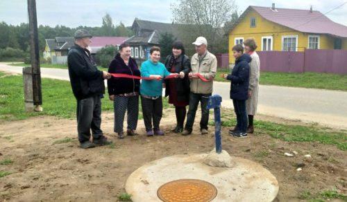 В деревне Васильевское капитально отремонтировали два участка водопроводной сети